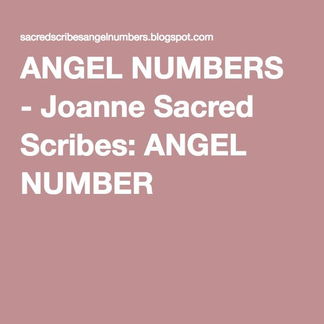 ANGEL NUMBERS - Joanne Sacred Scribes: ANGEL NUMBER 1