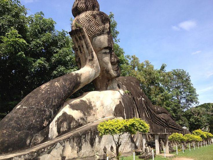 Buddha Park en Vientiane, Laos esculturas a orillas del Mekong