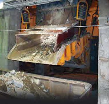 Hardox in hopper liner plate at Asian copper mine. Better wear plate helps mining company extract longer life and bigger profits.