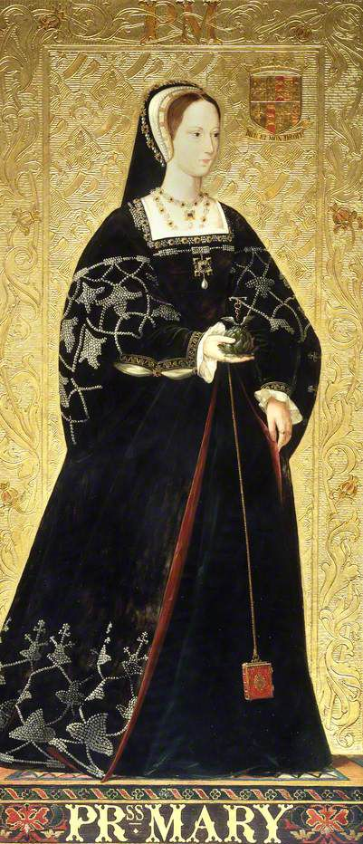 Portraits of 16th century ladies by Richard Burchett 1815–1875) at Palace of Westminster
