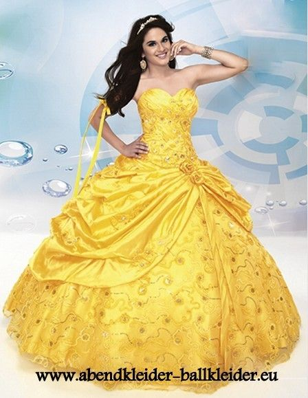 28 best yellow images on Pinterest | Ball dresses, Quince dresses ...