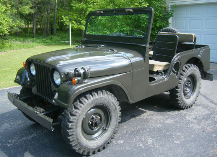 Rare 1970 M38A1 CDN3 Military Jeep Willys with overdrive unit, 5 original tires