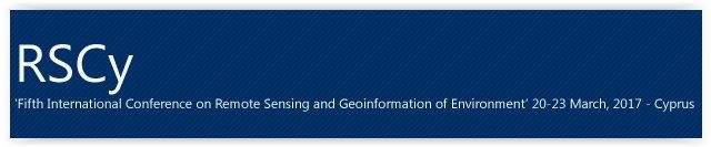 #geocongress RSCy2017 — Fifth International Conference On Remote Sensing and Geo-Information of the Environment. Paphos, Cyprus 20 Mar 2017 - 23 Mar 2017. The Organizing Committee of the 'Fifth International Conference on Remote Sensing and Geoinformation of Environment' invite you to join us in Cyprus on March 20-23, 2017 to network with leading experts in the field of Remote Sensing and Geo-information. The conference will take place at the Annabelle Hotel in Paphos, Cyprus...