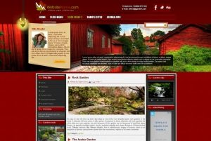 """GARDEN"" Responsive red colored template for Joomla! Perfect for garden business."