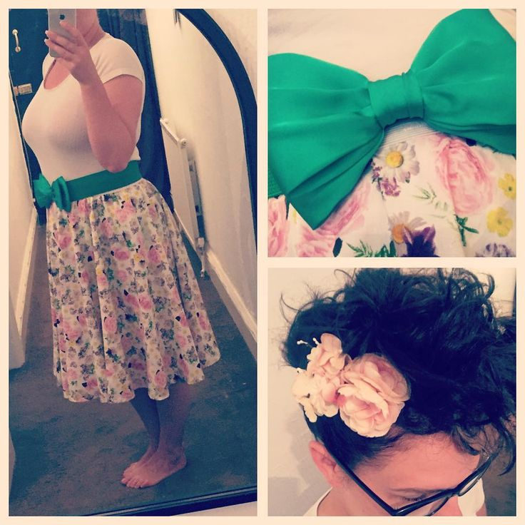 "12 Likes, 1 Comments - Cherry_baby (@cherry_baby1983) on Instagram: ""Love a skirt that was once a duvet 😊  #handmade #homemade #ootd #greenbow #poodlehair #flowers…"""