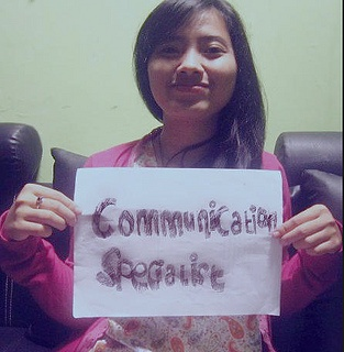 Dona from Indonesia would be a Communications Specialist if she had the right skills. What would you be?