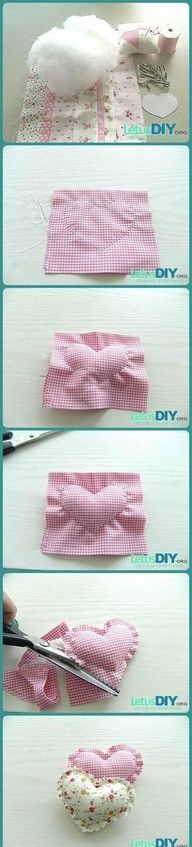 diy shabby hearts - http://www.craftycrafts.info/crafty-crafts/diy-shabby-hearts/