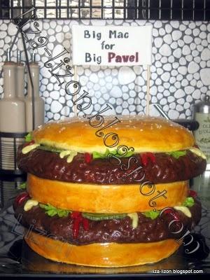 "Мир моих грез . . . Lizon.org: Мастичный торт ""Гамбургер"""