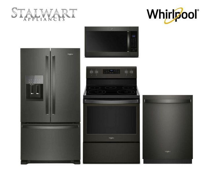 Save an additional $300 on any qualifying Whirlpool Canada Black Stainless Steel Appliance Suite!