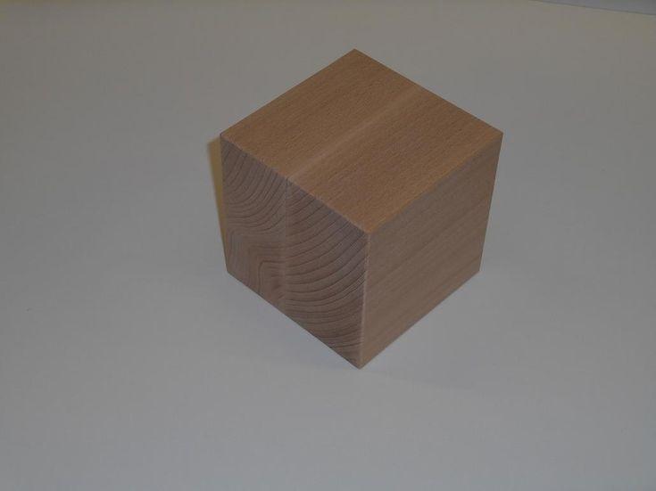 dřevěná krychle 100x100x100 mm