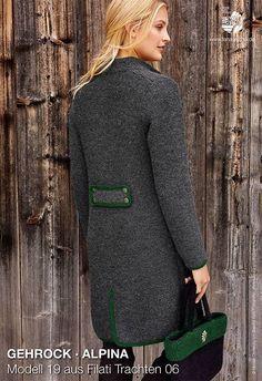 Kostenlose Anleitung für einen aufwändigen gestrickten Gehrock, bayerische Mode / free knitting pattern for a frock coat via lanagrossa.de