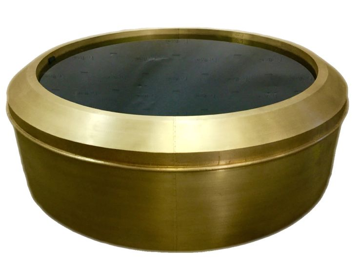 Circular Black And Gold Coffee Table. Discover More:  Coffeeandsidetables.com | #blackandgoldcoffeetables
