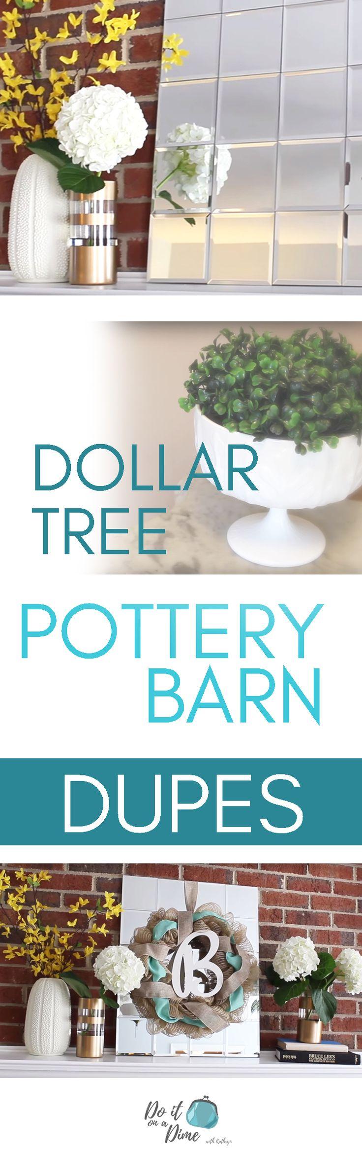 Pottery Barn Decor from Dollar Store!
