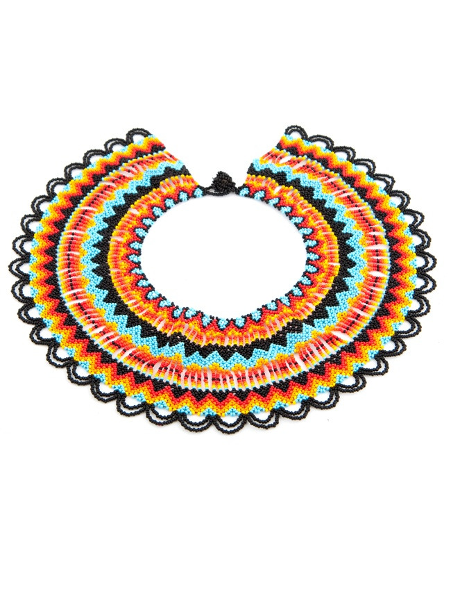 Seed beads short necklace