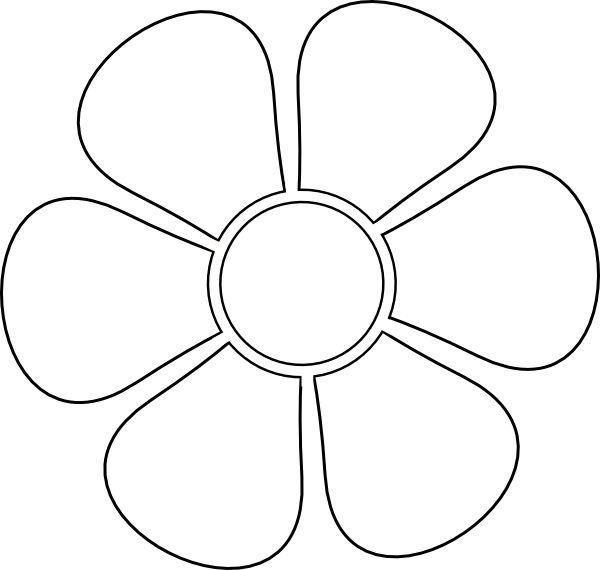 Daisy Flower Pattern Cut Out