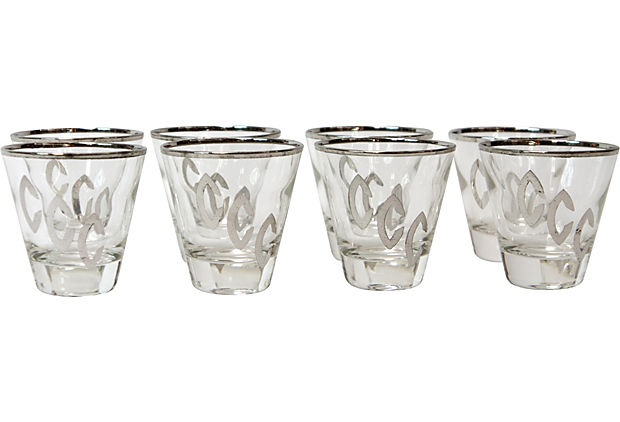 Midcentury Shot Glasses, S/8 on OneKingsLane.com