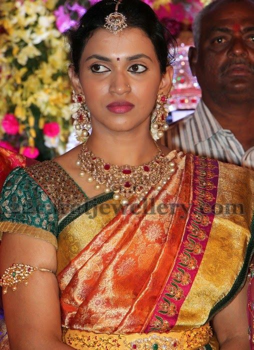 Jewellery Designs: Kalyan Ram wife in Kundan Choker ...