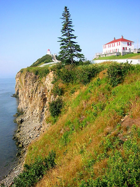 "Cape Enrage Lighthouse. ""Enrage, Enrage, Against the Dying of the Lighthouse."" That's the line, right?"