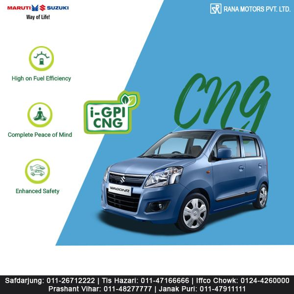Maruti Suzuki WagonR - India's favourite tall-boy design (CNG/petrol) car. Best in class, mileage, safety & comfort. http://www.ranamotors.co.in/toolkit/maruti-suzuki-wagonr-en-in.htm  Contact Numbers:- Safdarjung: 011-26712222 Prashant Vihar: 011-48277777 Iffco Chowk: 0124-4260000 Tis Hazari: 011-47166666 Janak Puri: 011-47911111  #MarutiSuzuki #WagonR #Design #Mileage #Safety #Comfort #RanaMotors #NewDelhi #Gurgaon