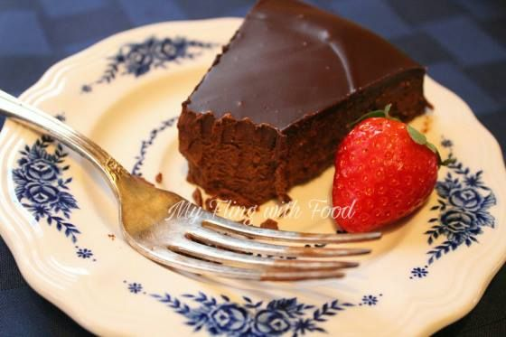 """Dark Chocolate Torte - (S)   """"If you're wondering what a torte is, it's basically a cake minus the flour. There's not a single teaspoon of flour in this recipe, and I'm willing to bet you have all the ingredients sitting in your pantry."""" - Erin  www.TrimHealthyMama.com"""