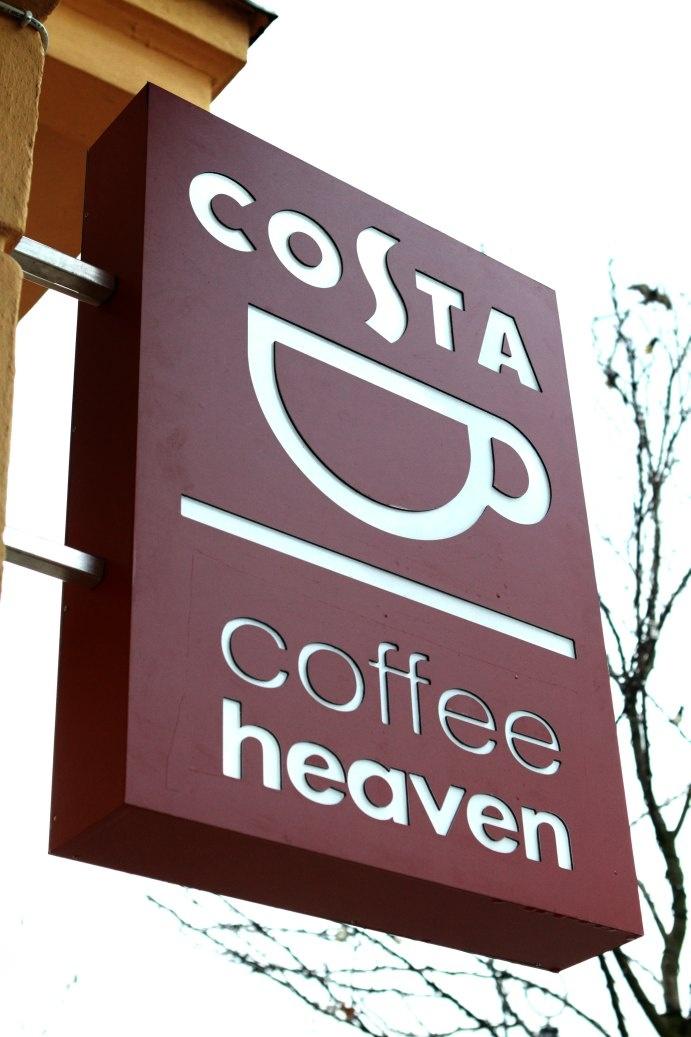 COSTA by coffeeheaven. Costa's sign-board, Warsaw, Krakowskie Przedmieście