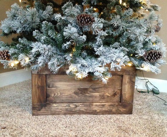 Folding Wood Christmas Tree Box Stand Wood Tree Skirt Farmhouse Tree Skirt Farmhouse Christmas Rustic Tree Stand Rustic Tree Box Wooden Christmas Trees Christmas Tree Base Christmas Tree Box Stand