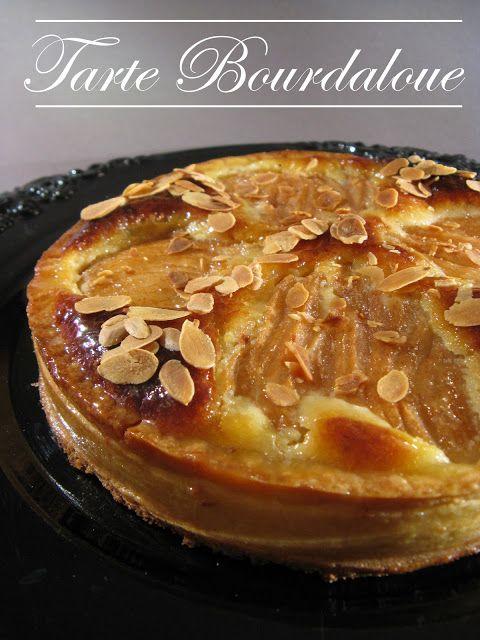 Tarte aux poires & à la crème d'amande dite à la Bourdaloue. Elle doit son nom à la rue Bourdaloue àParis où elle fut inventée au XIVè si...