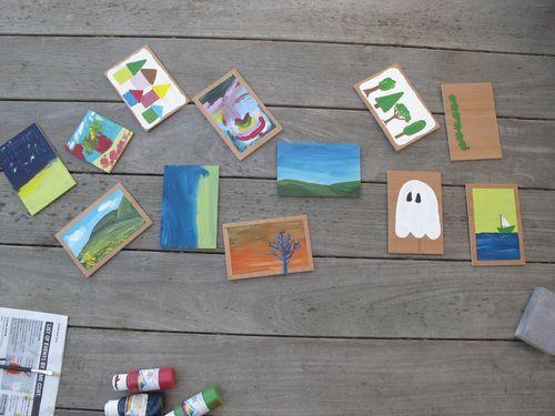 Wooden postcards...