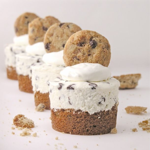 chocolate chip cookie cheesecakes