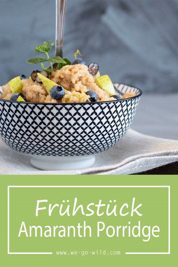 Schneller Amarantbrei mit Birne und Nüssen WIR GEHEN WILD – Die # 1 Fitnes …   – Oatmeal