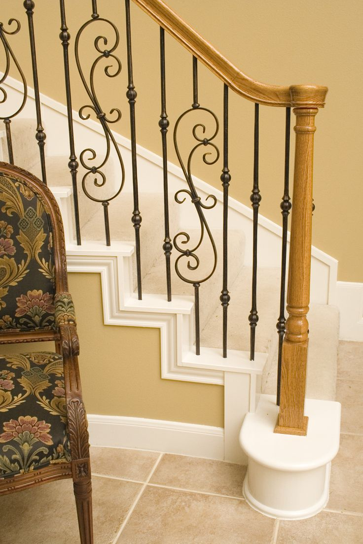 This design was created using Tuscan square hammered balusters. The double sphere baluster (2.10.3), the spiraled scroll baluster (16.1.25) create a uniquely designed staircase. These components are available in Satin Black (shown), Copper Vein, Oil Rubbed Bronze, Satin Clear, and Vintage Brass. We offer parts, install services, and custom components throughout Texas. Click the image for more information.