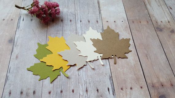This listing is (50pc // 100pc) of leaf die cuts. You have the options to choose leaf cut outs with holes ( holes will be in the top center of