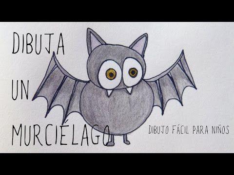 Murciélago. Dibujo fácil para niños (#Halloween) - YouTube Hola. En este…