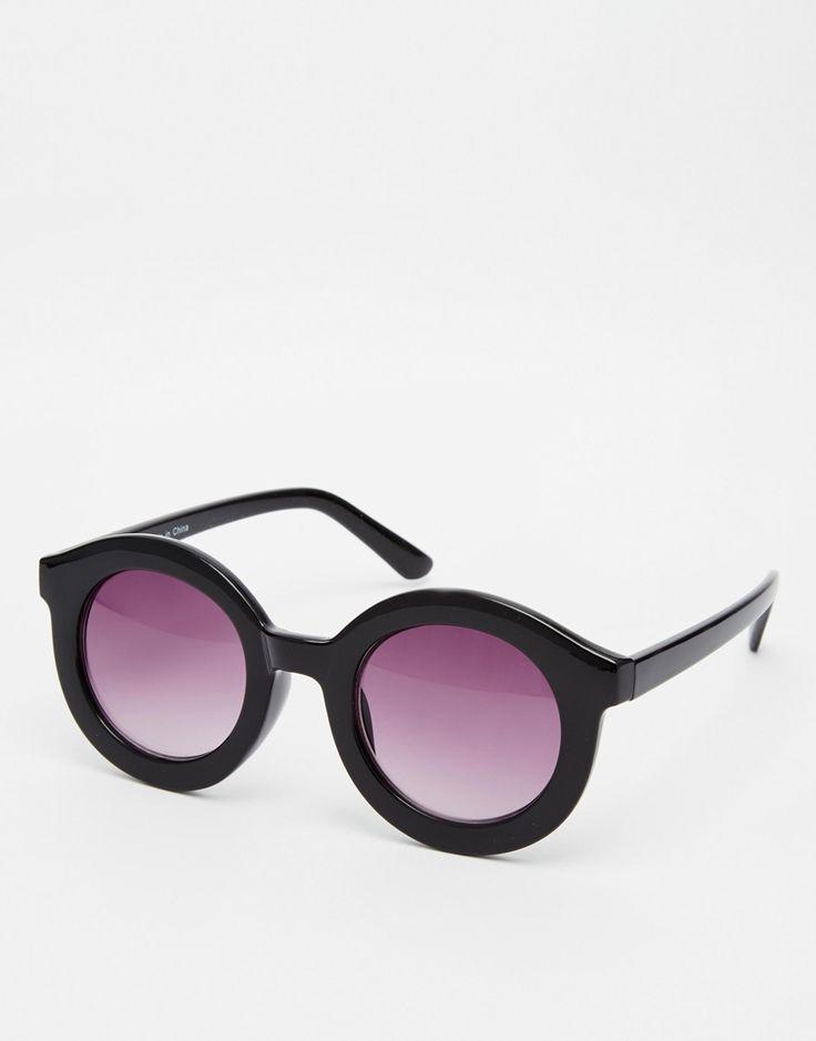 Sunglass Junkie ronde surdimensionnée Mesdames déclaration lunettes de soleil en cristal rose Verres miroirs Pink UV400 offrant une protection 100% UV. Bras en métal doré et détails de cadre H8EHRJiua