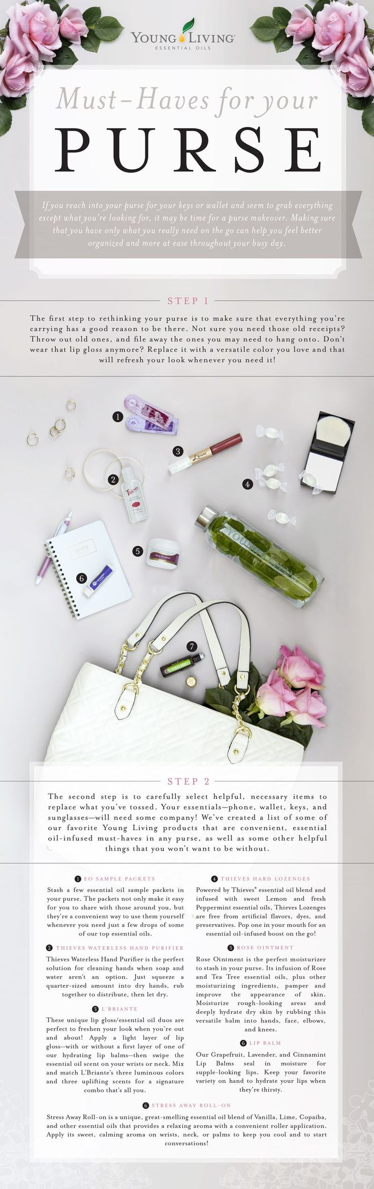 Must haves for your purse! www.EssentialOils4Sale.com #EssentialOils #LipGloss #LipBalm