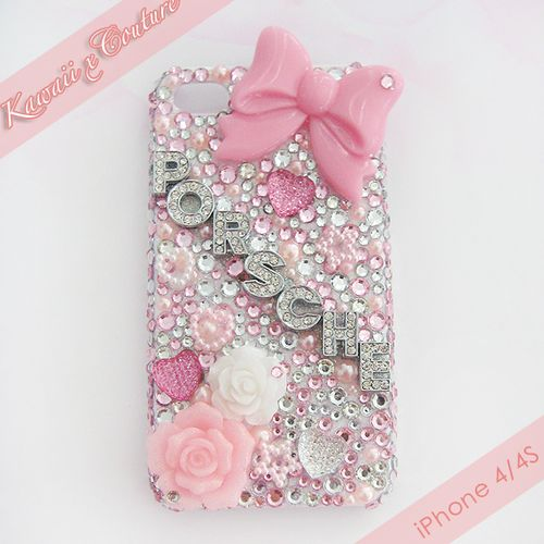 Custom Order Rhinestone Name Case | $45.00    SHOP: Kawaii x Couture DecodenHandmade decoden phone cases, jewelry, & accessories ♡