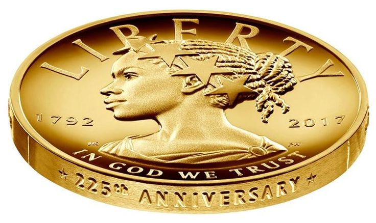 U.S. Mint and Treasury unveiled the new Lady Liberty coin design portraying an African-American woman on the 225th anniversary.