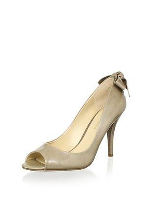 61% OFF Enzo Angiolini Women's Mistle Bow Peep-Toe Pump (Beige Tonal)