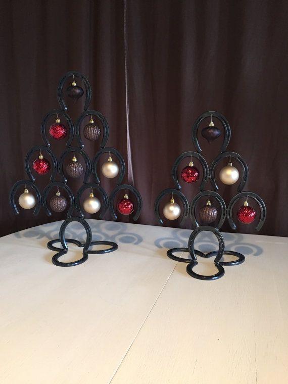 Handgemachte Hufeisen Weihnachtsbaum Set von OutlawDesignDecor