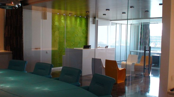 New project for a very modern office sevron square rugin light green colour