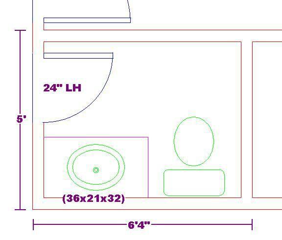 Half Bathroom Layout: Half Bath Dimension