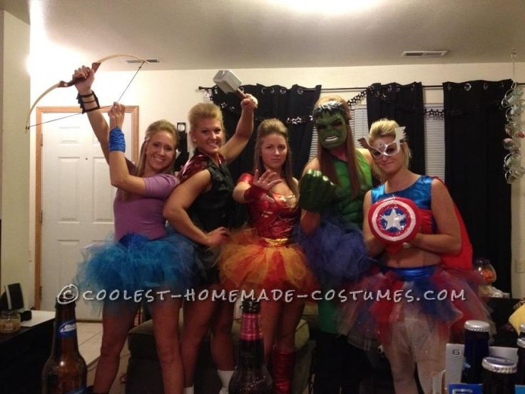 Homemade Avengers Girls Group Costume ... This website is the Pinterest of costumes