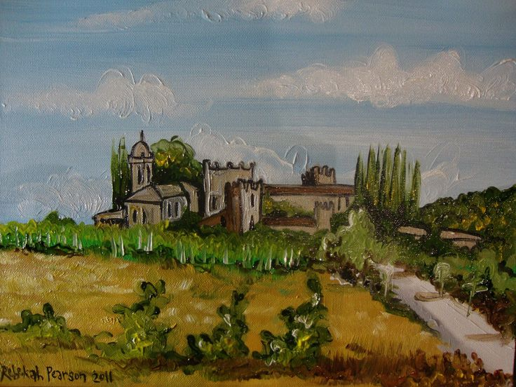 Commisioned oil on canvas of a client's wedding venue in Northern Italy as a thank you present for their parents