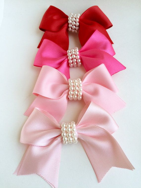 Bow Hair Clip Baby Bow Hair Clip Toddler by LilMajestyBoutique