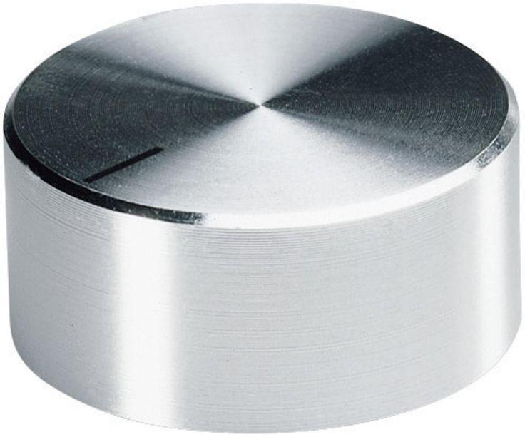OKW Drehknöpfe mit seitlicher Schraubbefestigung (D x d1 x d2 x H x h1 x h2) 37,8 x 6 x 32,8 x 15,9 x 3 x 13,5 mm Aluminium Achs-Durchmesser 6 mm im Conrad Online Shop