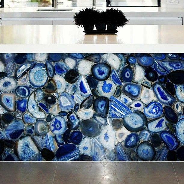 Blue Agate Backlit Slab · AgatesCountertopsGemstoneTiles