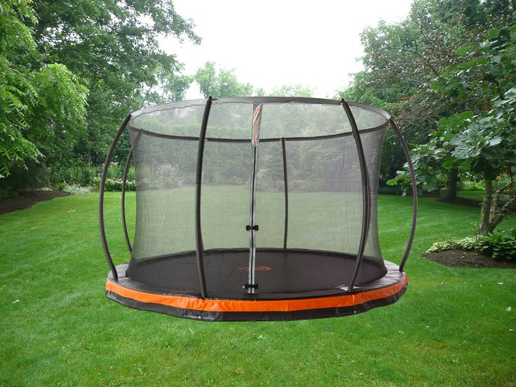 14ft. In-ground Trampoline & Patented Safety Net Combo