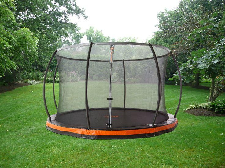 best 25 in ground trampoline ideas on pinterest ground trampoline sunken trampoline and. Black Bedroom Furniture Sets. Home Design Ideas