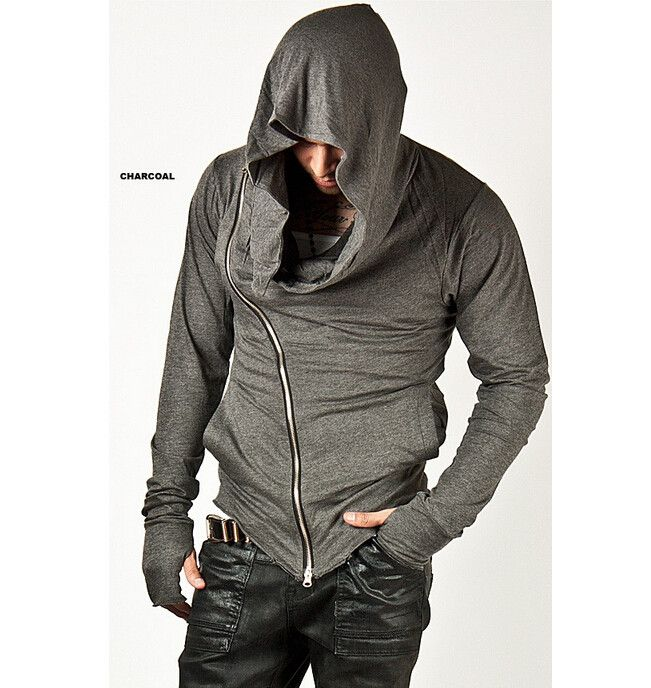 Material:Cotton,Poyester Pattern Type:Solid Style:Fashion Gender:Men Striking Unbeatable Style Arm Warmer Diagonal Zip-Up Hoodie Ver.2 This super zip-up hood will be a perfect addition for your stylis