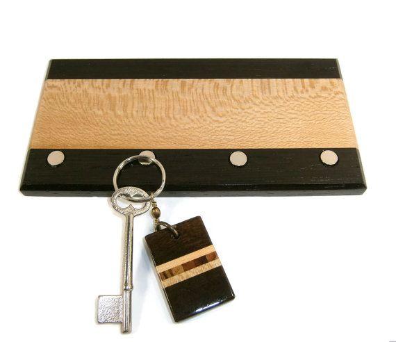 Key Holder / Wood Key Holder / Magnetic Key Holder by Eklektibles